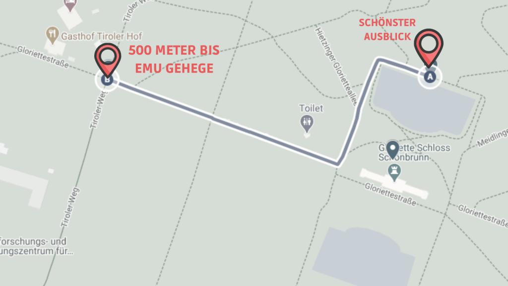 CW Schönbrunn Linie 10 Emu Gehege