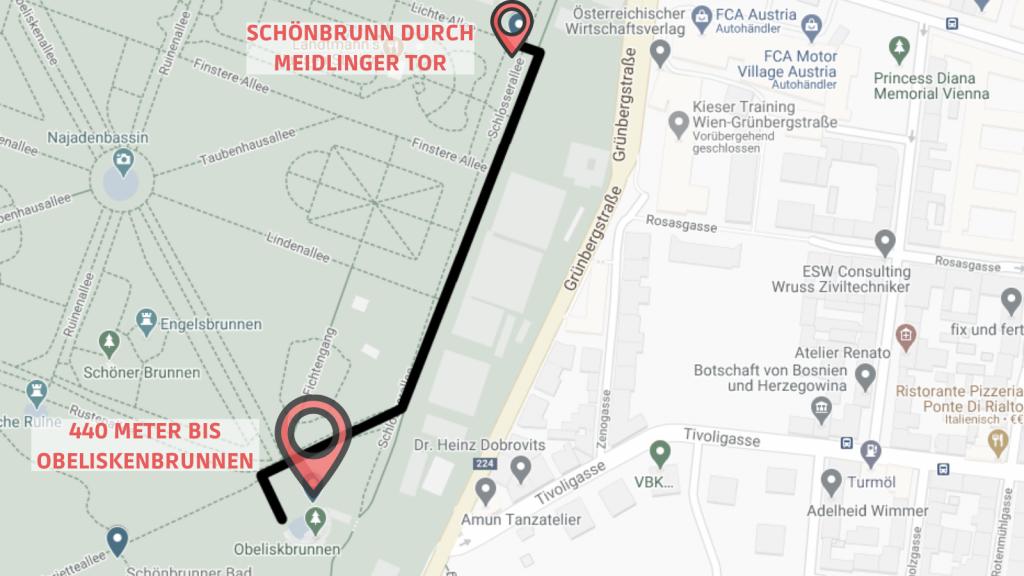 CW Schönbrunn Linie 6 Obeliskenbrunnen