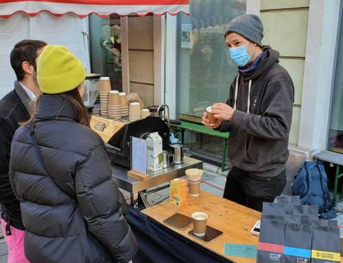 3 Wiener Märkte mit Spezialitäten Kaffee Ständen
