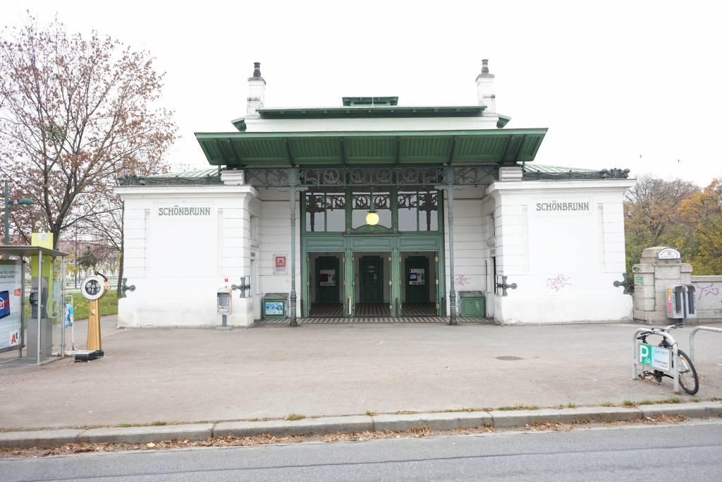 U4 Station Schönbrunn von Otto Wagner