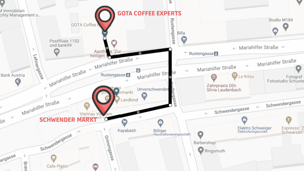 gota coffee experts map