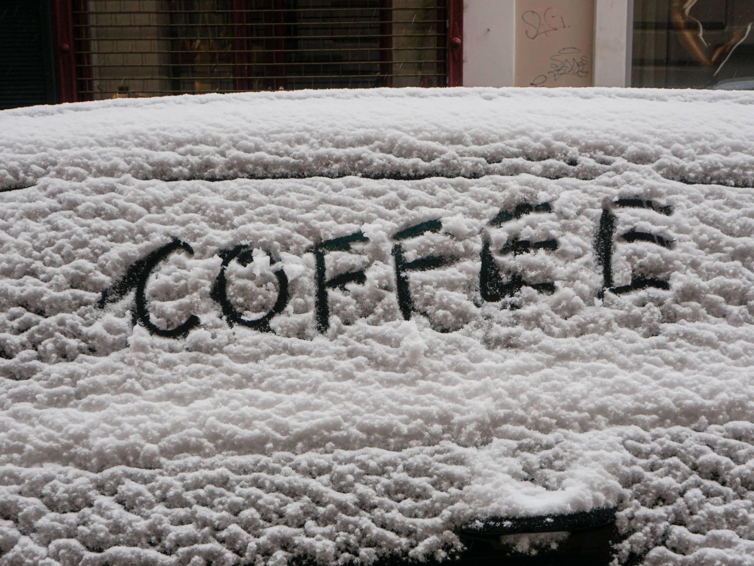Coffee Weihnachtsstimmung Schnee