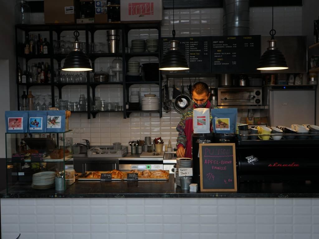 Cafe le Marche Coffeewalk Wiener Innenstadt im Winter