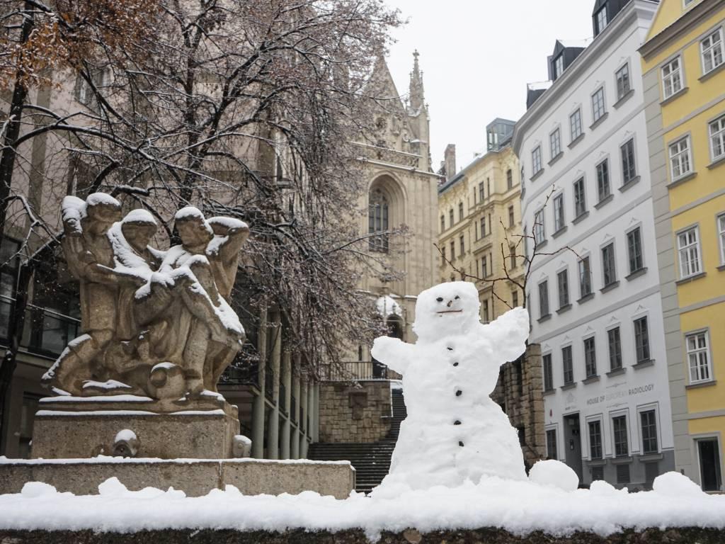 Coffeewalk Wiener Innenstadt im Winter Am Gestade