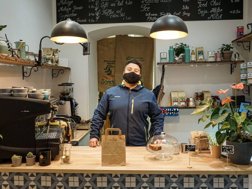 Melangerie Kaffeegenuss Coffeewalk Specialty Coffee selbstgemachter Kuchen