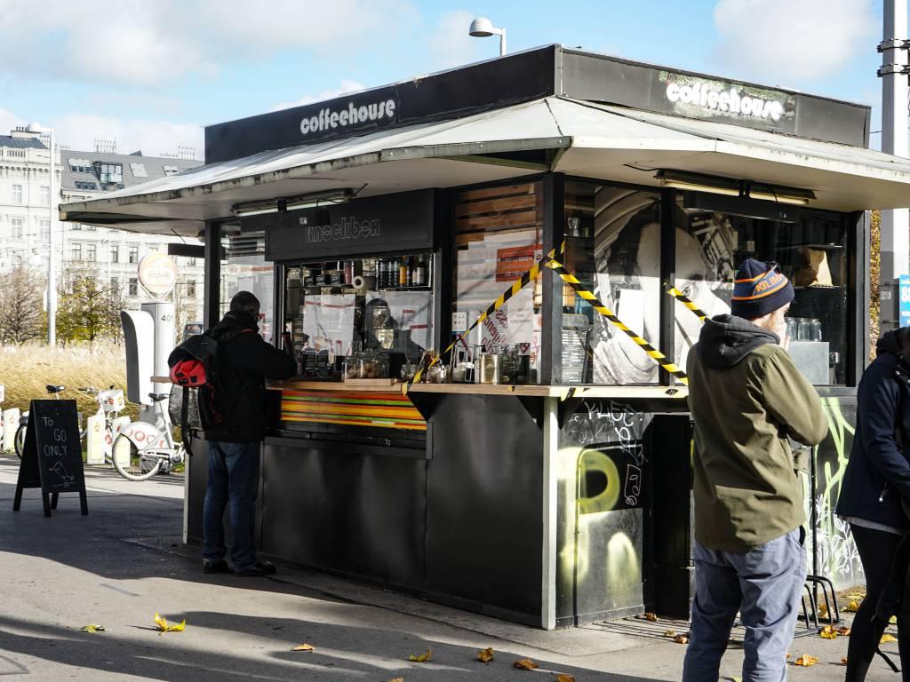 Knock Box Coffeewalk Kaffeestand im Freien