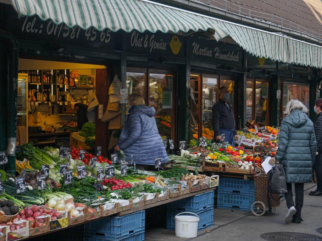 Naschmarkt Coffeewalk Durchgang Markt Gemüse