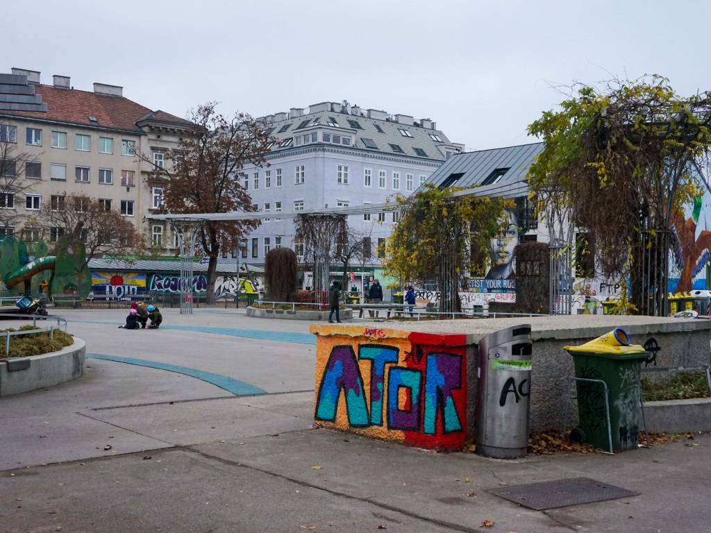 Yppenplatz Coffeewalk Graffiti