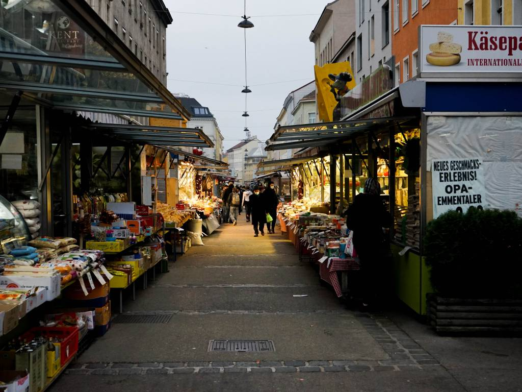 Brunnenmarkt Coffeewalk Markt Kulinarik