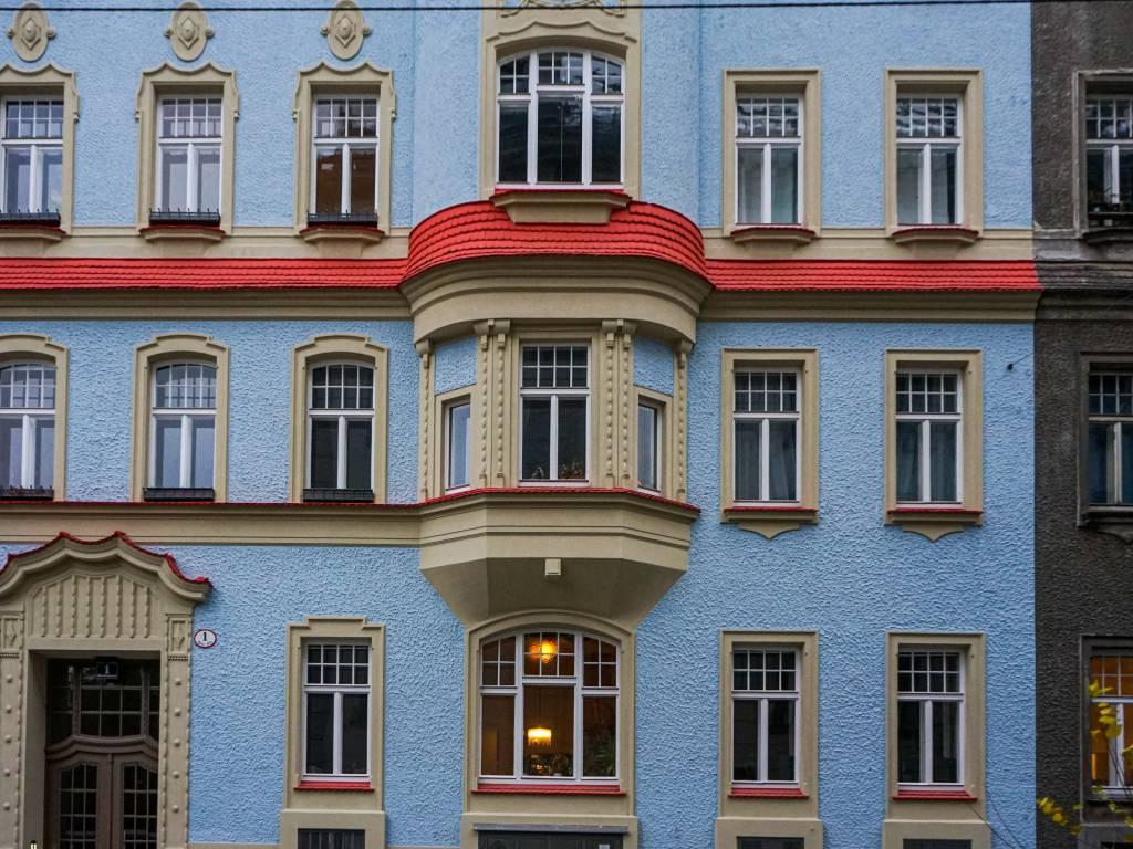 Hammerlingpark Coffeewalk blaues Haus